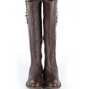 Coach Brown Leather Riding  Boots sz 8